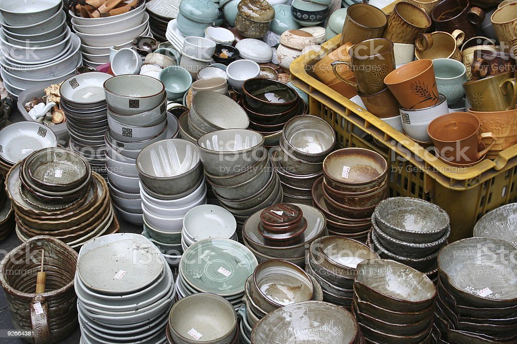 Bowls, Plates & Cups royalty-free stock photo