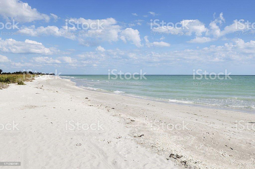 Bowman Beach on Sanibel Island Florida stock photo