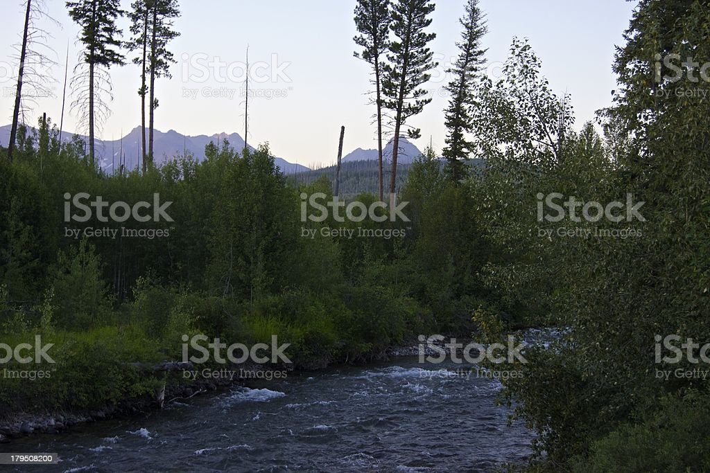 Bowman Creek Dusk stock photo