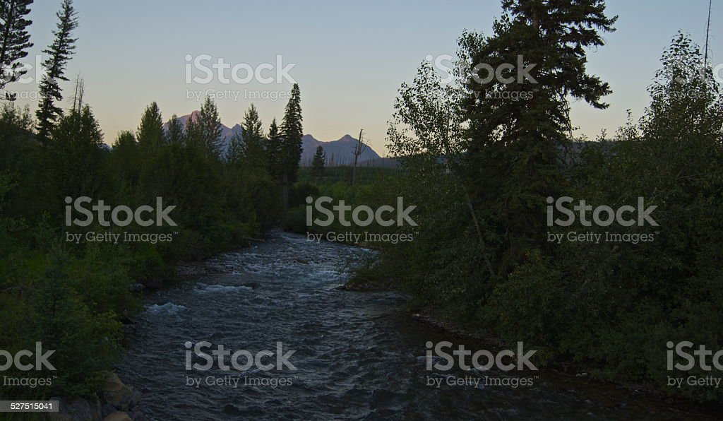Bowman Creek Dusk stock photo