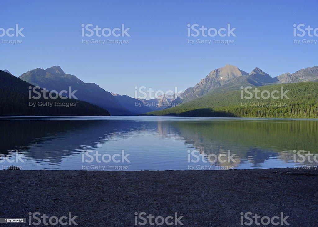 Bowman Lake Beach stock photo
