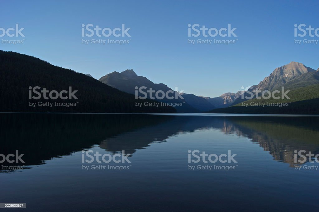 Bowman Lake Blue stock photo