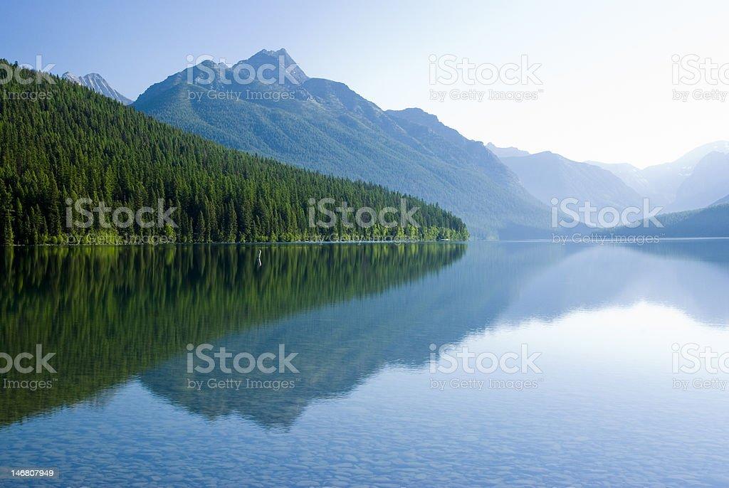 Bowman Lake stock photo
