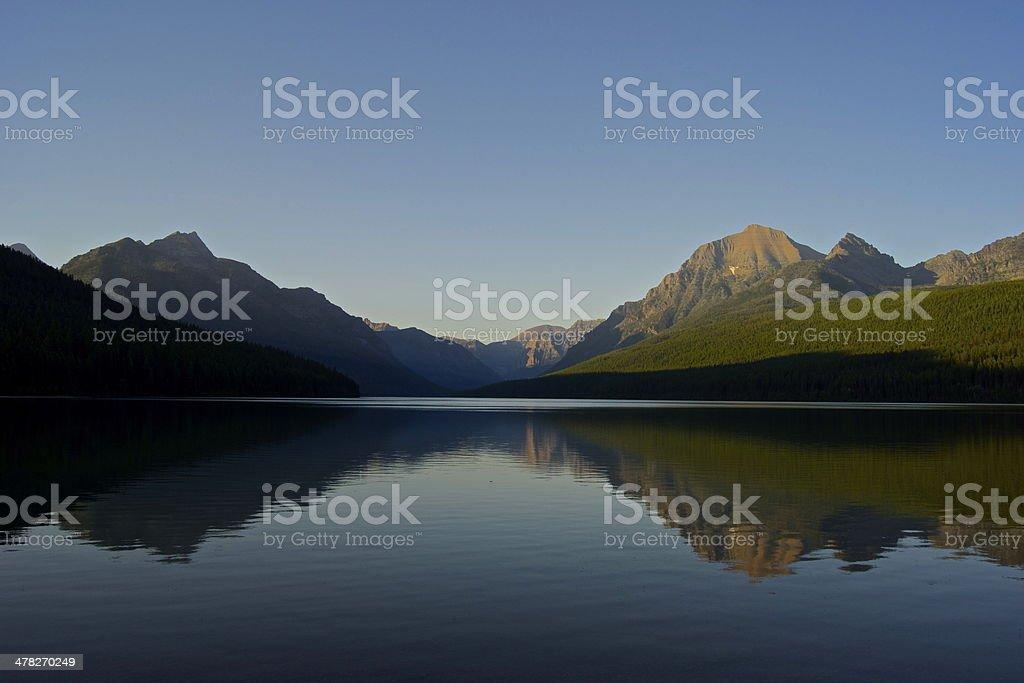 Bowman Lake Wild Mirror stock photo