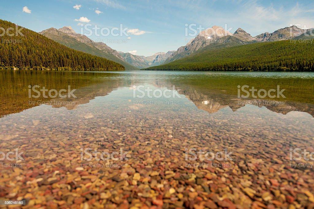 Bowmand Lake Shallows stock photo