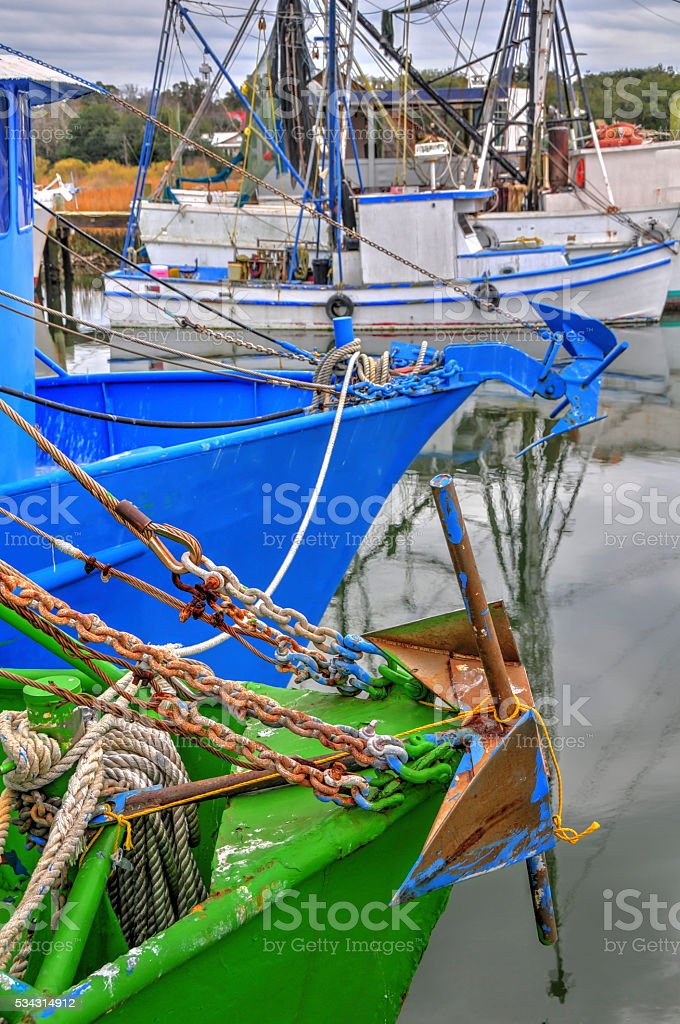 Bows of Shem Creek stock photo