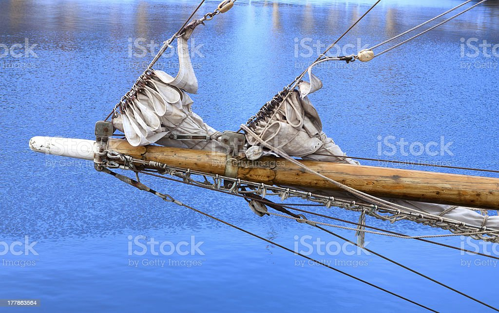 Bowsprit of a sailing vessel royalty-free stock photo