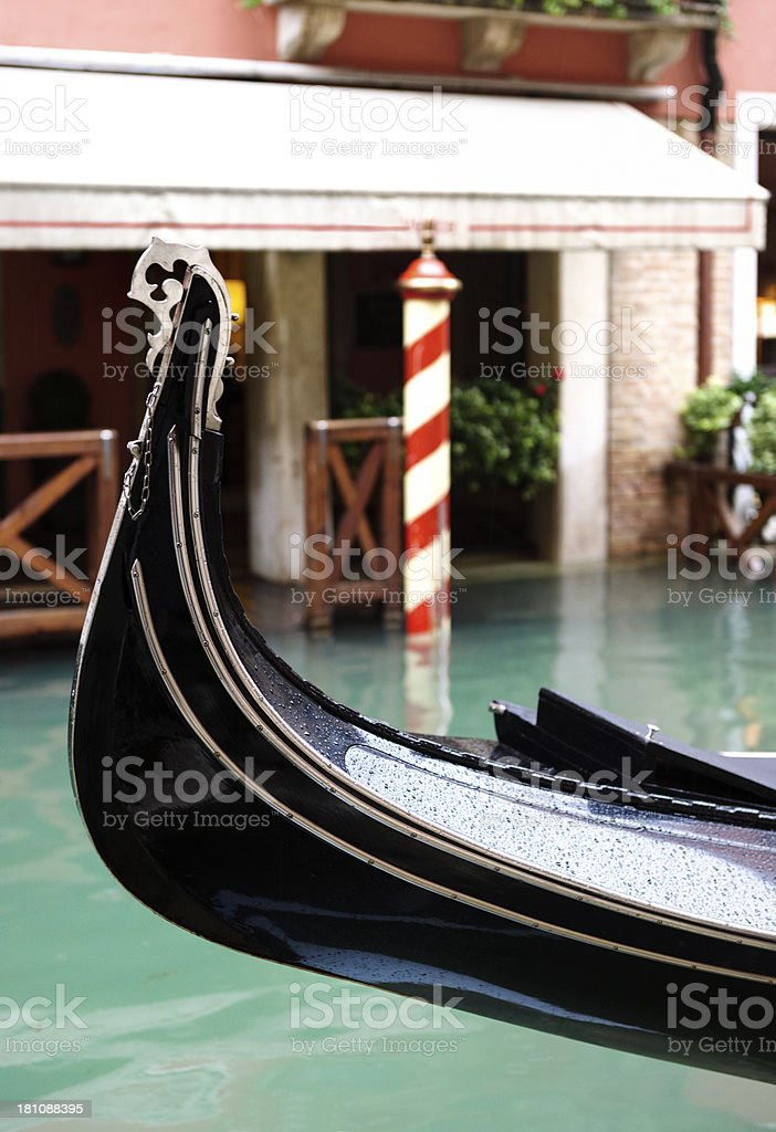 bowsprit of gondola in Venice Italy royalty-free stock photo
