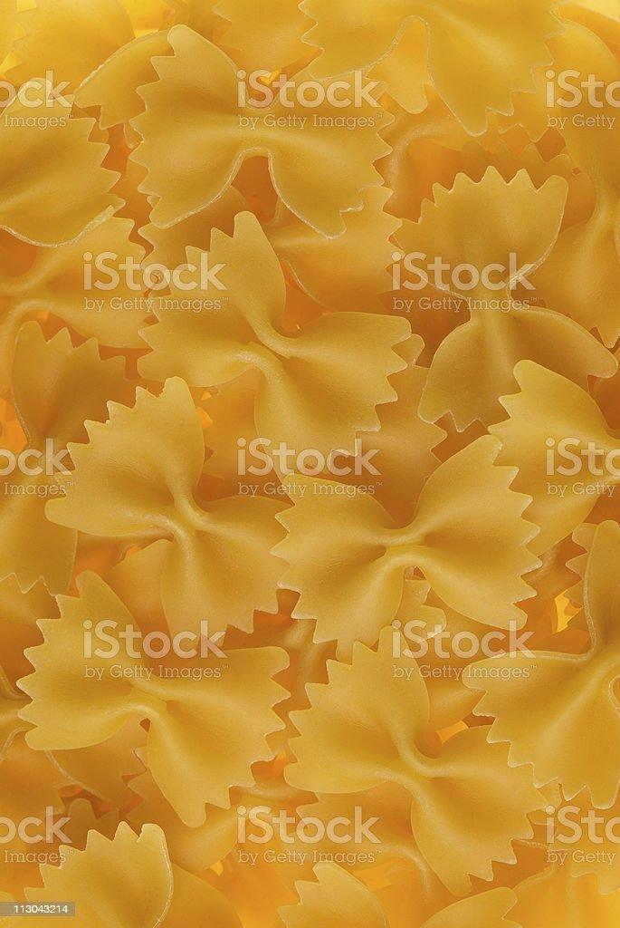 Bow-tie pasta closeup stock photo