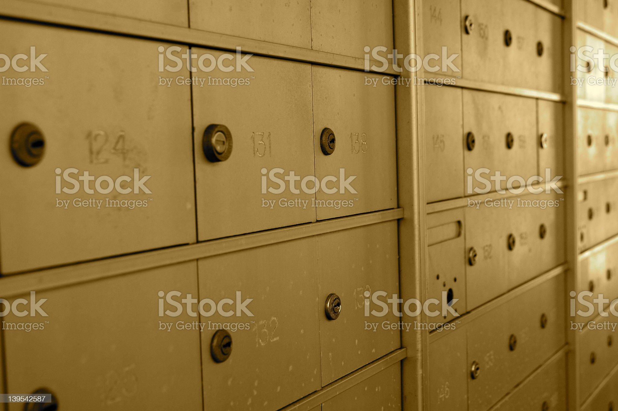P.O. Box 124 royalty-free stock photo