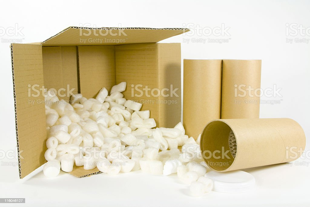 box and post tubes stock photo