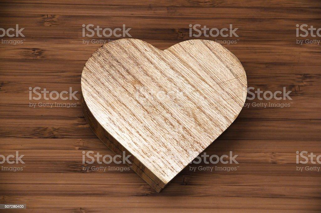 Box as heart stock photo