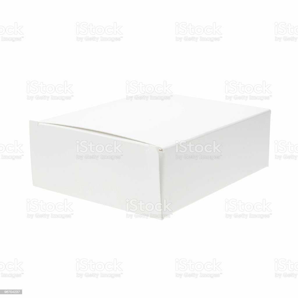 Box - Blank White large with clipping path royalty-free stock photo