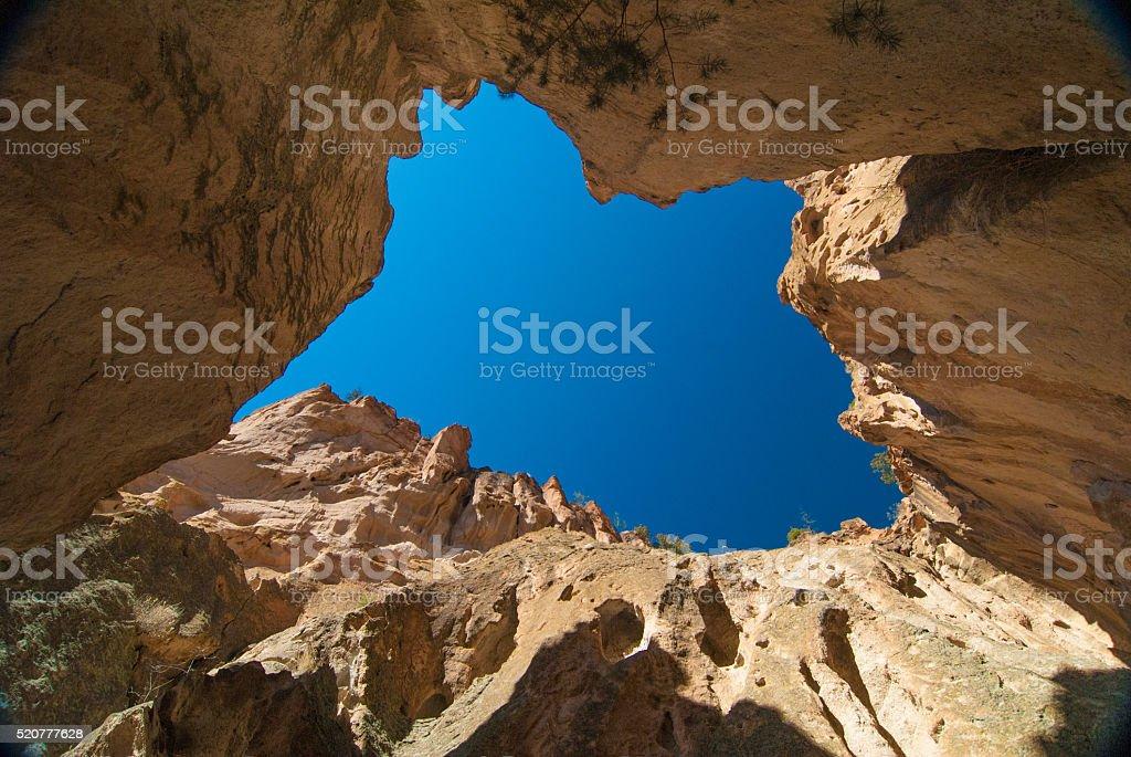 Box Canyon and Blue Sky stock photo