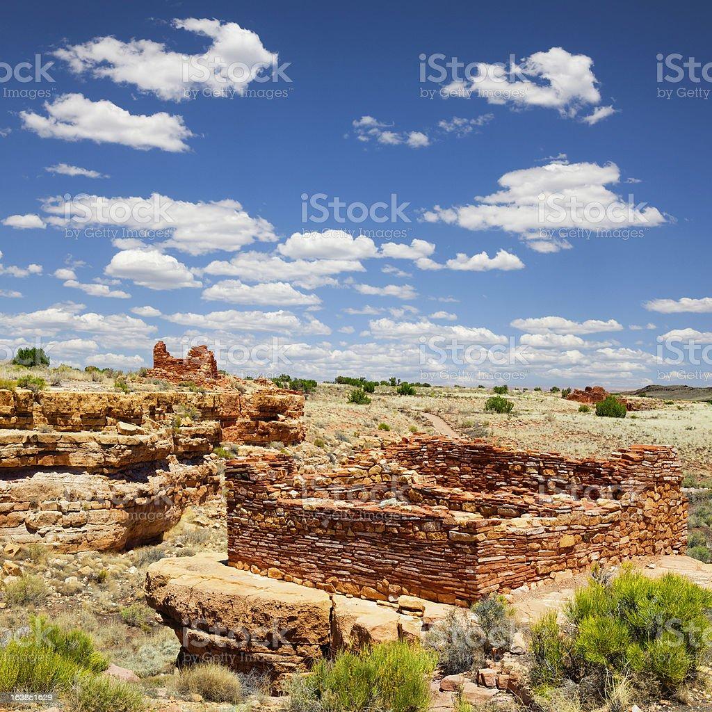 Box Canyon Ruins - Wupatki National Monument royalty-free stock photo