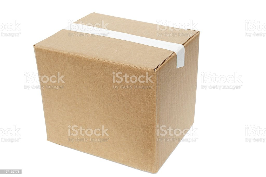 box, cleanskin, ready for branding with path stock photo