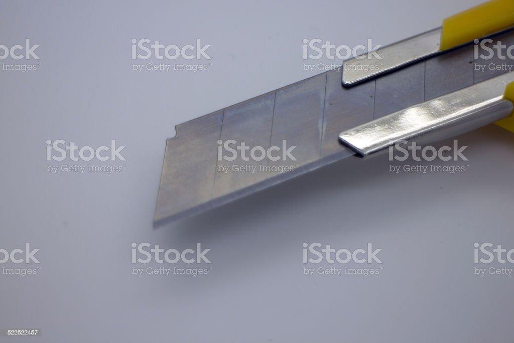 Box cutter blade stock photo