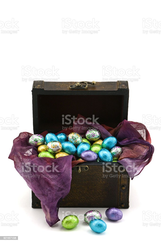 Box Full of Chocolate Eggs royalty-free stock photo