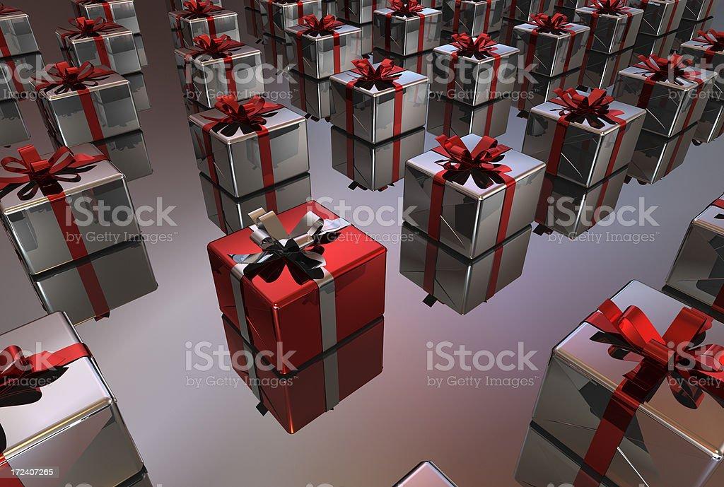 Box gift stock photo