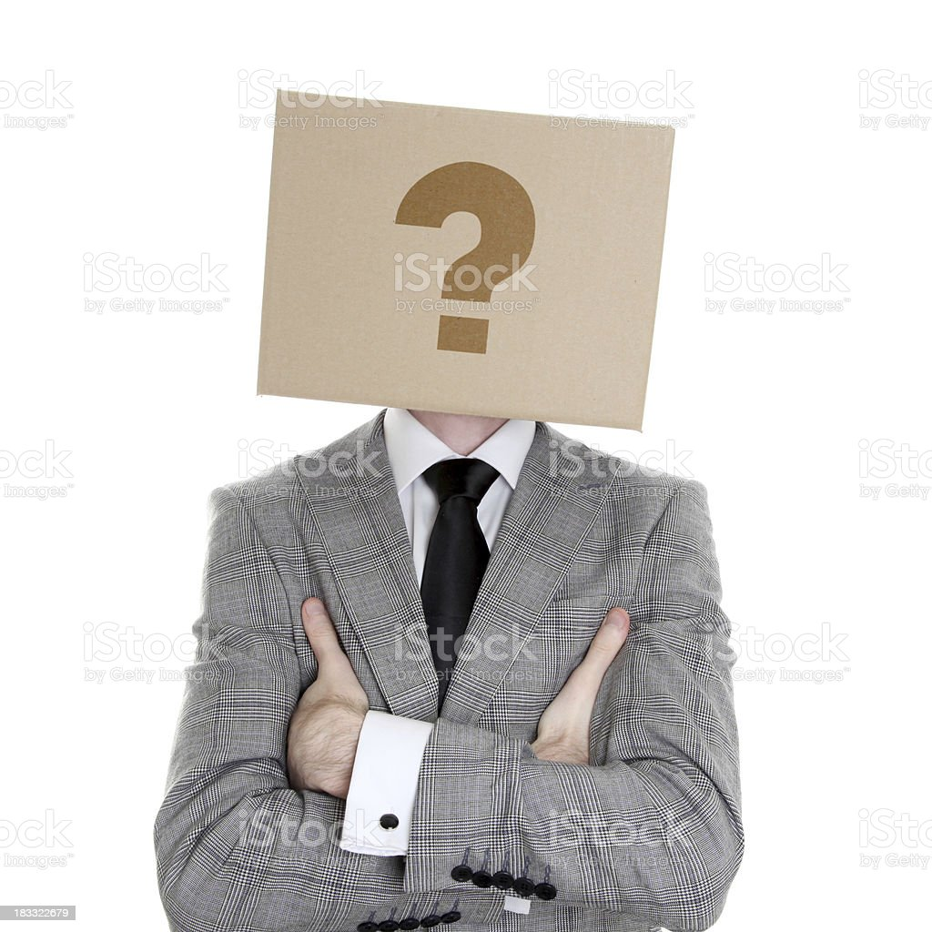Box head -question royalty-free stock photo