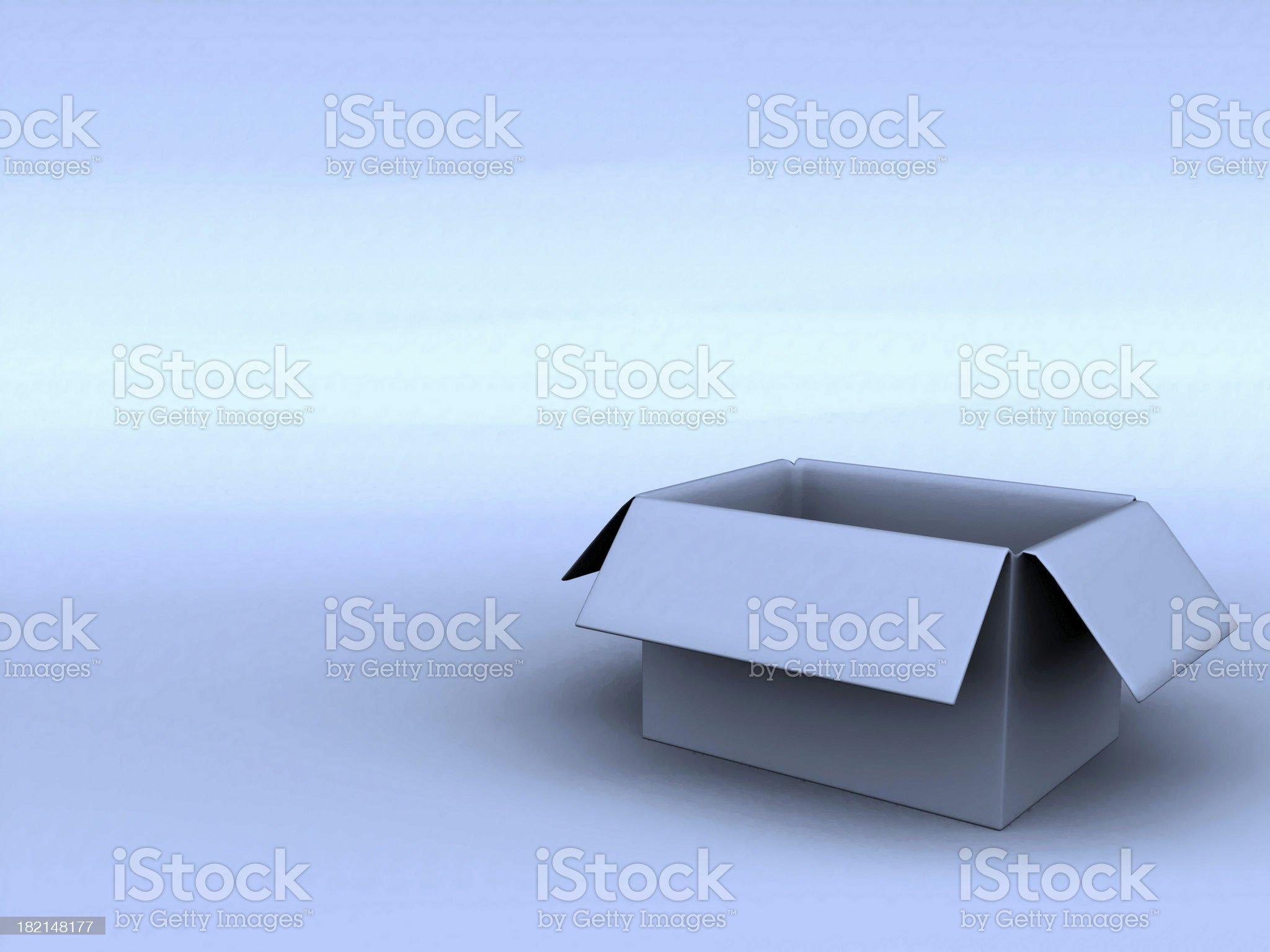 Box in Blue 01 royalty-free stock photo