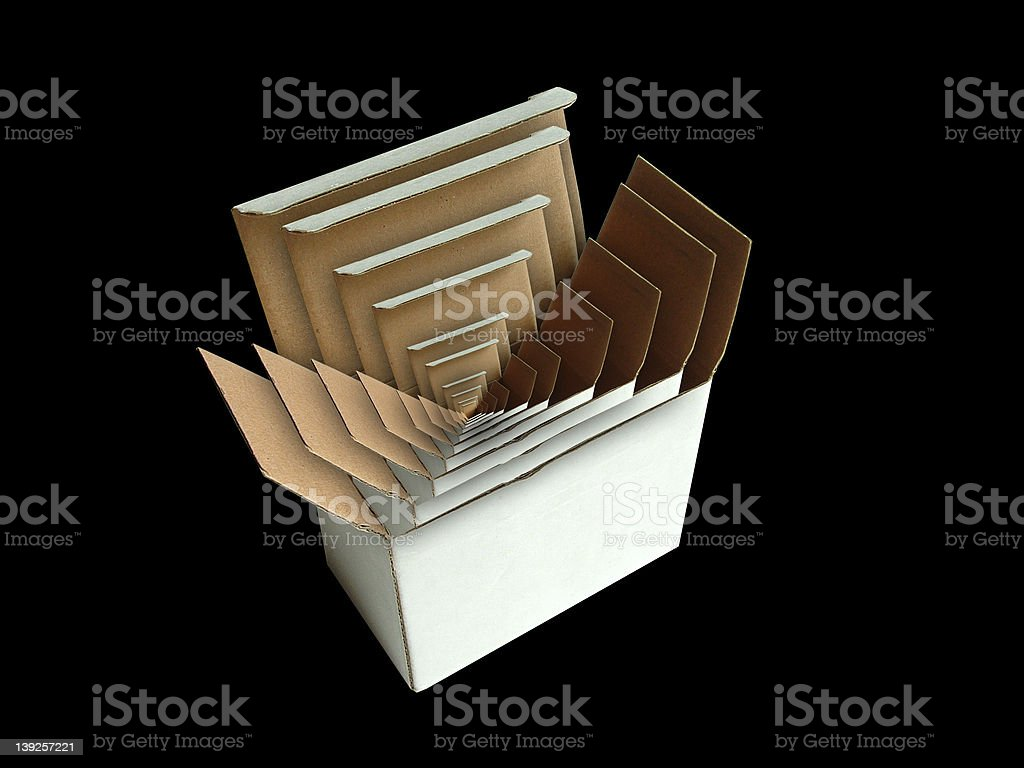 Box in Box stock photo