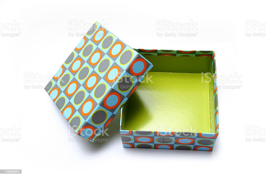box in olive green royalty-free stock photo