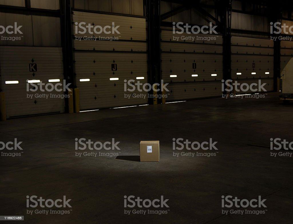 Box in spot light royalty-free stock photo