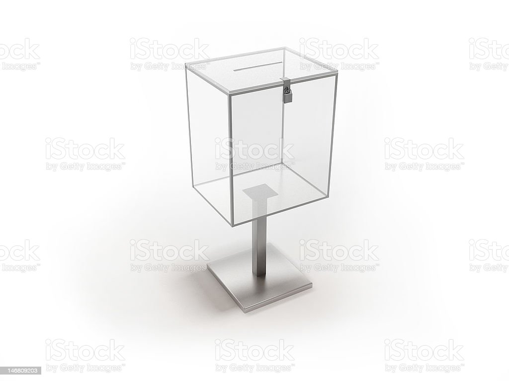 Box isolated on white stock photo