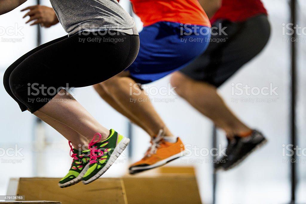 Box Jump stock photo