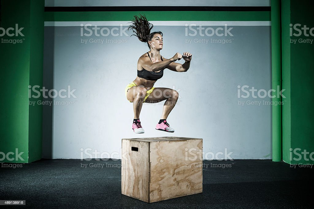 box jump stock photo