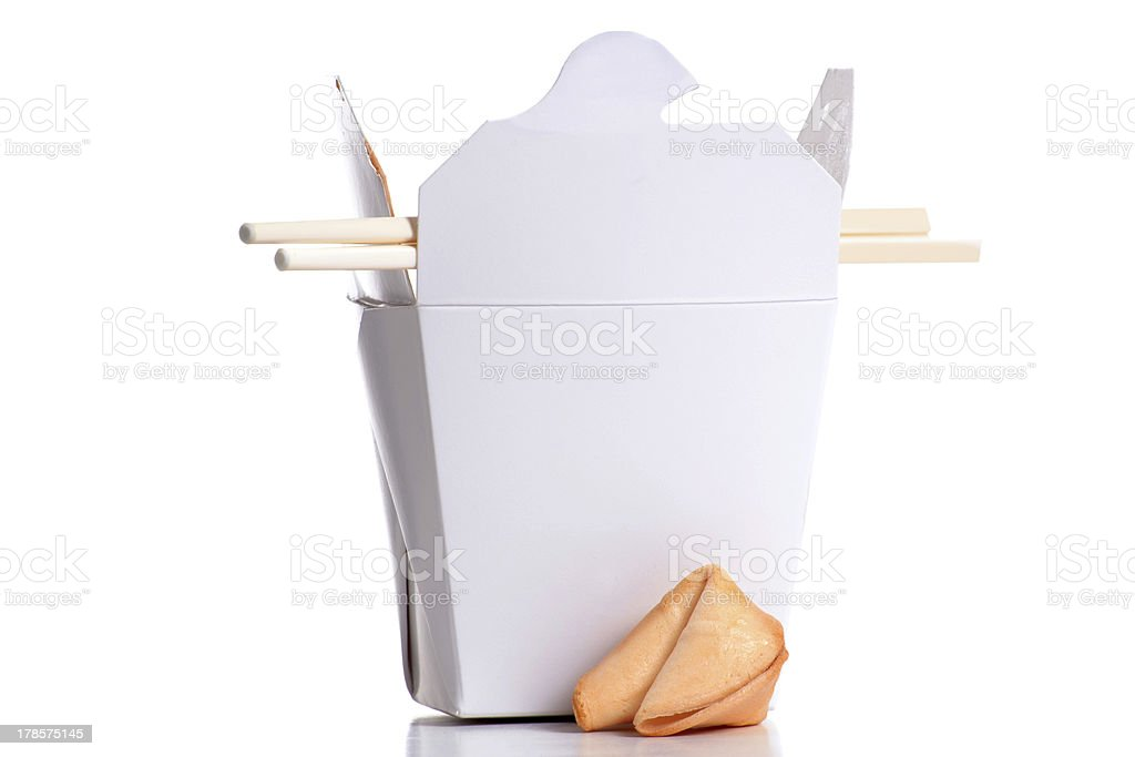 Box Leftovers stock photo