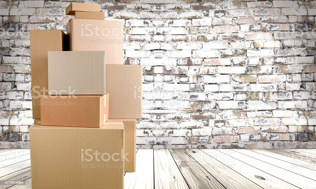 Box, Moving Office, Moving House stock photo