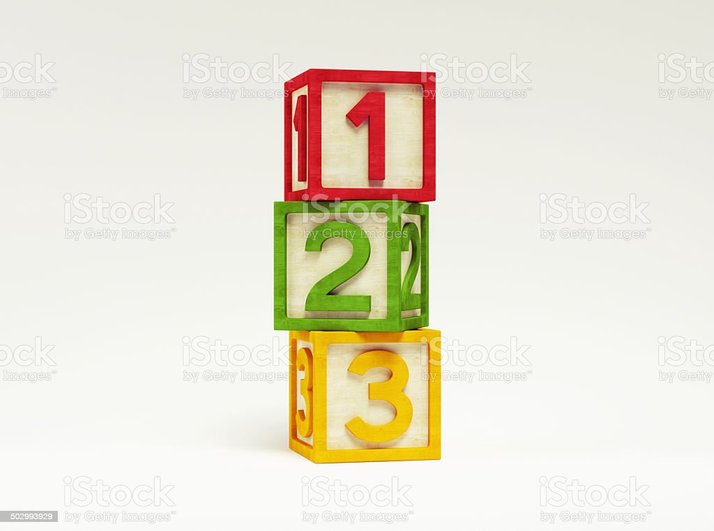 Box Number Toy stock photo