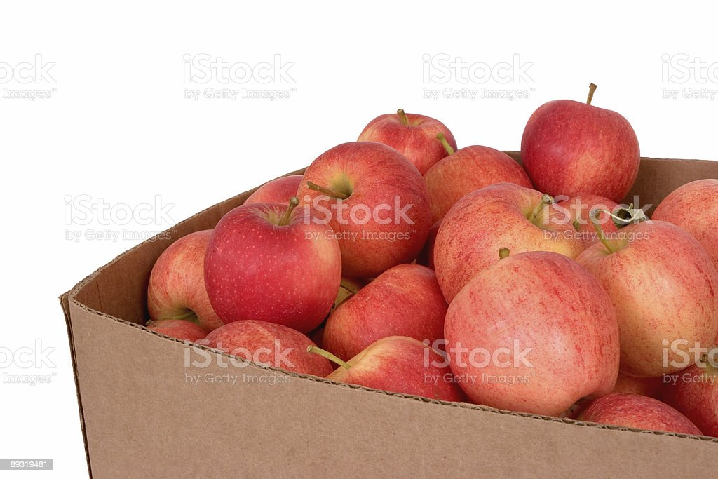 Box of Apples stock photo