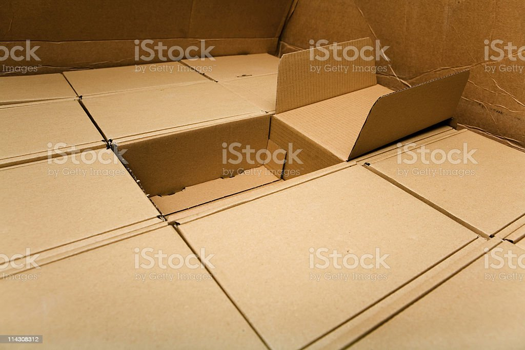 Box of boxes royalty-free stock photo