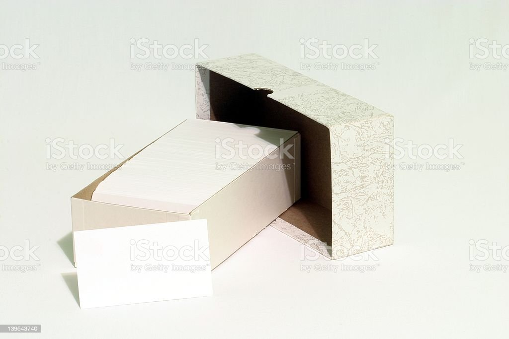 Box of Business Cards royalty-free stock photo