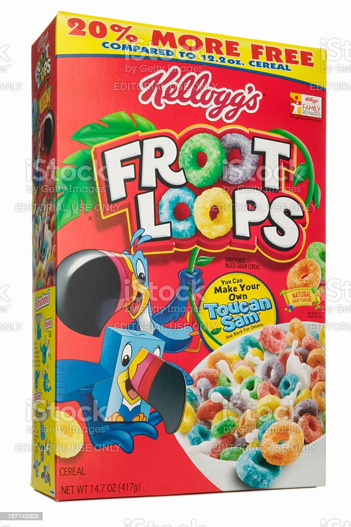 Box of cereal stock photo