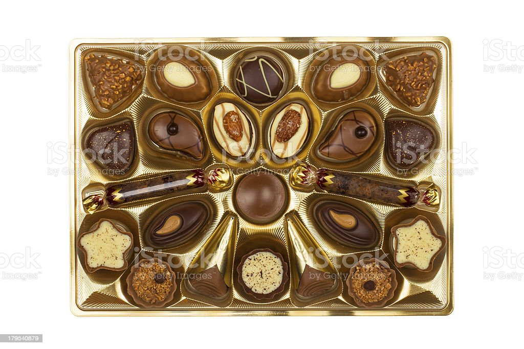 Box of Chocolate Candy royalty-free stock photo