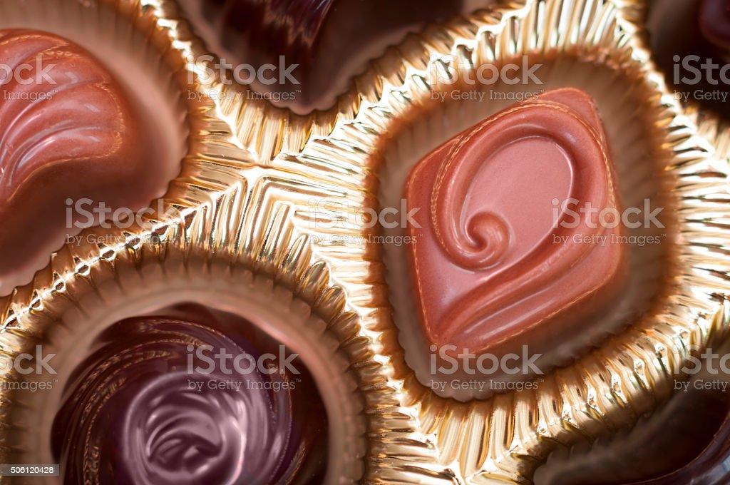 Box of chocolates for Valentine day stock photo