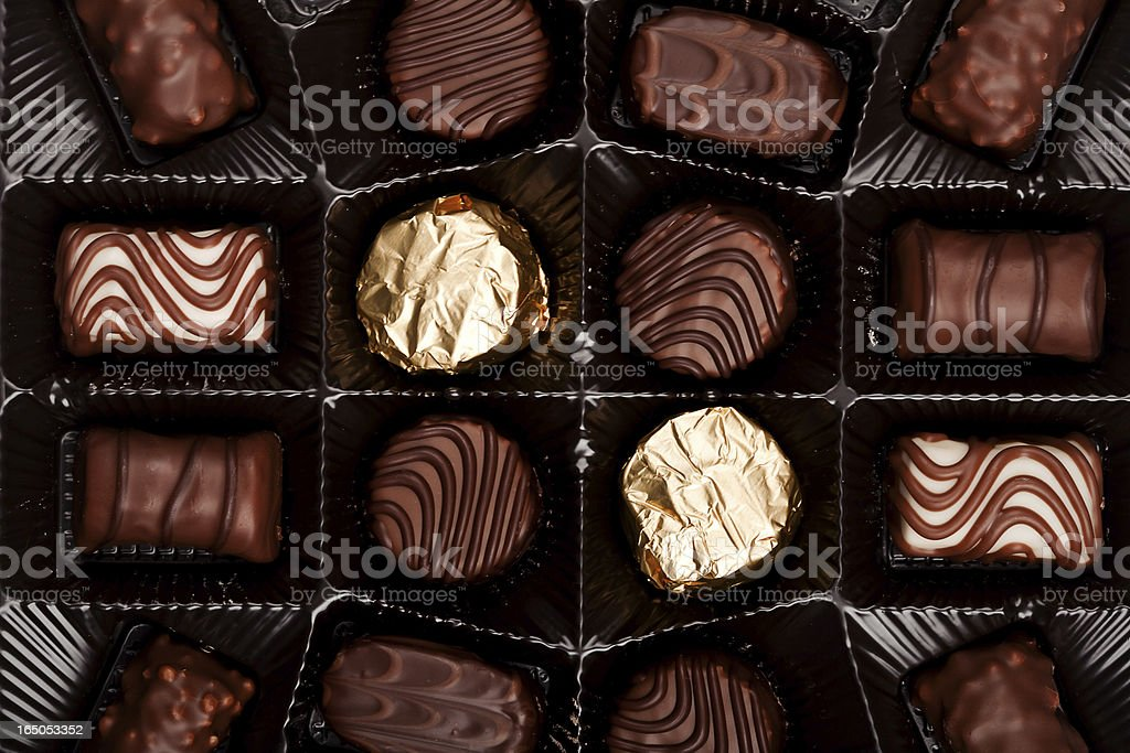 Box of chocolates royalty-free stock photo