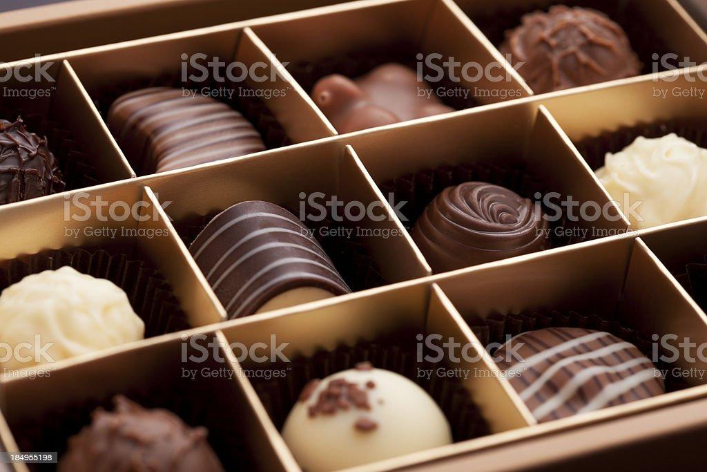 Box of Chocolates stock photo