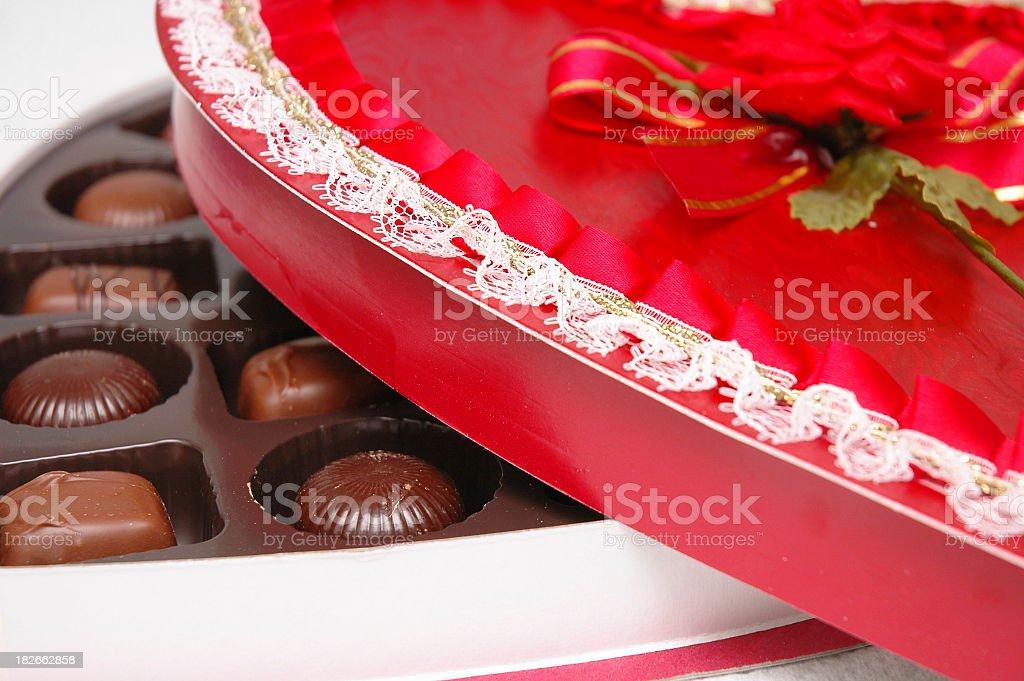 Box of Chocolates with Lid stock photo