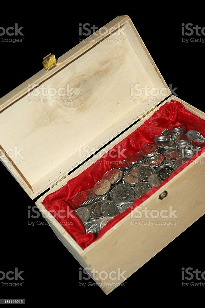 Box of Coins royalty-free stock photo