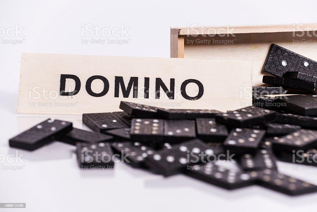 Box of domino royalty-free stock photo