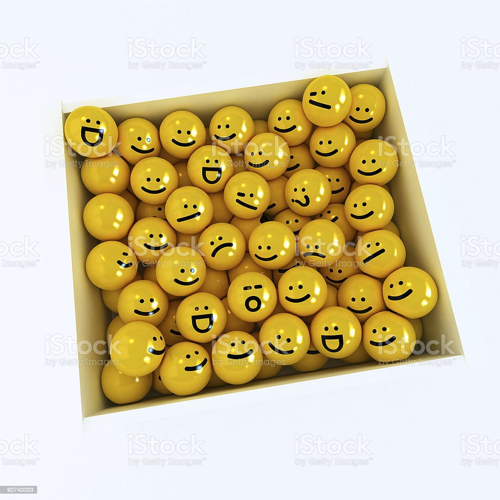Box of emotion icons royalty-free stock photo