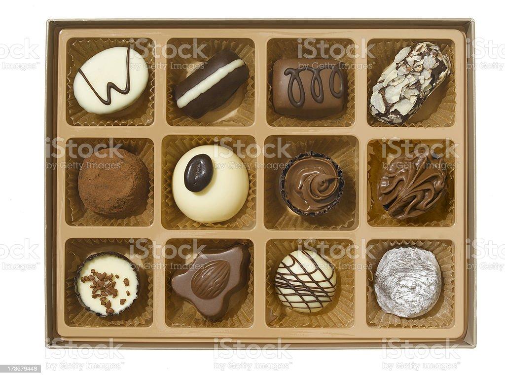 box of luxury chocolates royalty-free stock photo