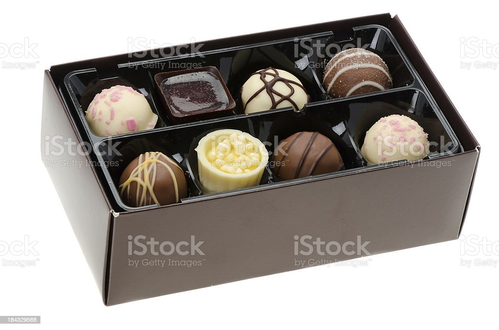 Box of luxury chocolates royalty-free stock photo
