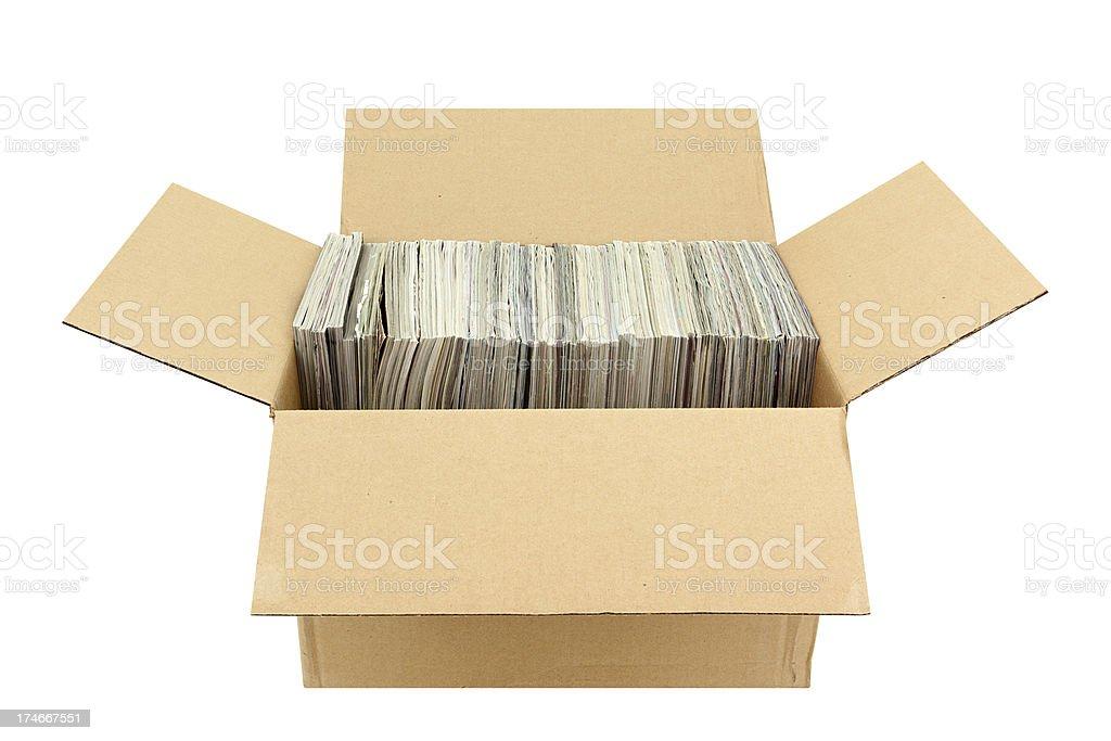 Box of Magazines stock photo