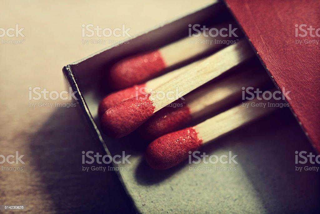Box of Matches stock photo